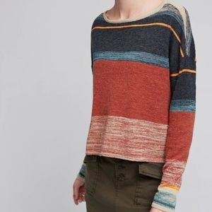 Anthropologie Moth Samedi Striped  Sweater